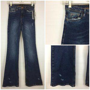 NWT ZARA PITILLO CAMPANA Skinny Flare Jeans